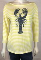 Talbots Women's Striped Shirt Pullover Top Size S Lobster Nautical Beach Life