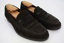 Gianni Versace Italy Men's Brown Suede Loafers Bits Removed Rubber Soles 8