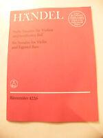 Partition Handel 6 Sonates pour violon et Basson Music Sheet