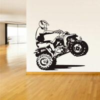 Wall Vinyl Sticker Bedroom Decal Quad Chopper Moto Motorcycle ATV (Z1499)