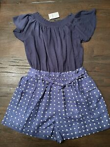 Crewcuts - Romper - Navy with White Stars - Size 10 - New with Tags