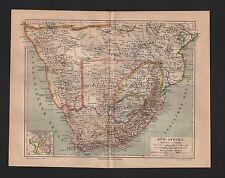 Landkarte map 1887: SÜD-AFRIKA. Südafrika Kapkolonien