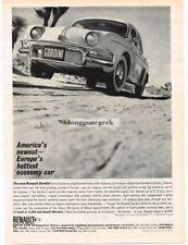 1961 Renault Gordini Automobile Car Vtg Print Ad #1