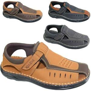 Mens Buckle Fastening Sandals Flat Beach Walking Fashion Casual Summer Slipper