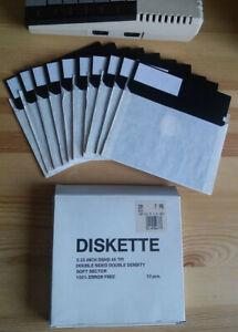 """10 Disketten 5 1/4 5,25"""" DS DD für Commodore C64 Atari XL XE etc"""