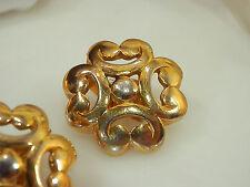 Pretty Vintage 70's Signed Crown Trifar Earringsi 121F5