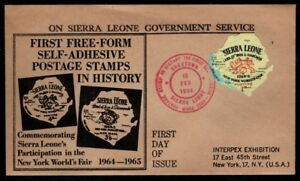 First Free Form Self-adhesive Postage Stamp by Sierra Leone