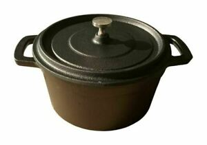 SMALL Stock Pot Cast Iron Cooking Stoves open Fire Camping Black Dutch Oven Stew