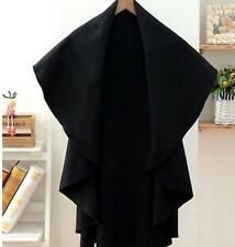 2016 Women's Autumn Cashmere Blend Cape Poncho Korean Loose Coats Black One Size