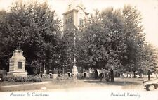 VTG RPPC POSTCARD REAL PHOTO MONUMENT COURTHOUSE DOWNTOWN MOREHEAD KENTUCKY KY