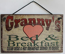 Granny s Sign Bed & Breakfast Kitchen House Guest Room Grandma Home Mom Kid Best