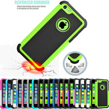 For iPhone 5C Hybrid Dual Layer Impact Defender Rugged Slim Hard New Case Cover
