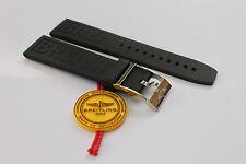 100% Genuine New Breitling Black Diver Pro 3 Caoutchouc Rubber Strap 22-20mm