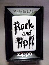 "Zippo "" Rock And Roll "" - White MATE - NUEVO Y EMB. orig. - #635"
