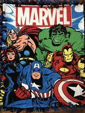 Marvel Comics The Avengers Fleece Tie Blanket