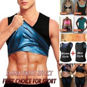 Women Men Slimming Workout Sauna Sweat Tank Tops Weight Loss Vest Body Shaper