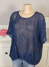 STREET ONE Tunika Shirt Oversize Transparent Bluse Blau Gr. 36 S (BD57)