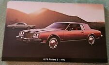 1979 Buick Riviera S Type Advertising Postcard