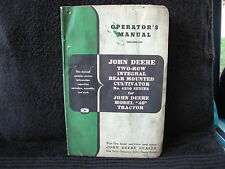 Vintage Used John Deere Operators Manual - 2 Row I Cultivator for 40  OM-N22-153