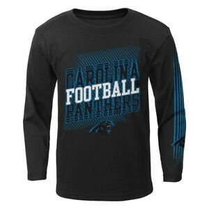 """Carolina Panthers Outerstuff NFL Boys Black """"Frequency"""" Long Sleeve T-Shirt"""