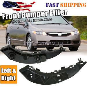 Fits 2006 2011 Honda Civic sedan Front Bumper Retainer Bracket Support 2pc LH RH
