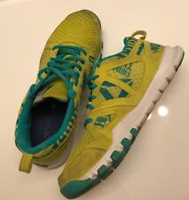 Reebok Sublite Foam Running and Crossfit shoes-Yellow/Teal- Women's size 9.5