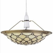 Easy Fit Ceiling Light Lamp Glass Tiffany Style Uplighter Shade Yellow Litecraft