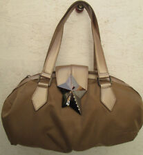 -AUTHENTIQUE grand sac à main  THIERRY MUGLER   toile/cuir  TBEG vintage bag