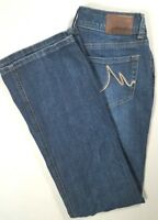 MAURICES Womens CURVY Low Rise Boot Cut Jeans Dark Wash Size 3/4 SHORT