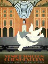 Il turismo viaggi Treno Orient Express Londra VENEZIA COLOMBA art print poster bb10102