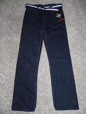 Old Skool Jeans Boys Size 14 Inseam 27 BD1095 Color Blue Black Belted NWT $40