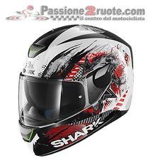 Helmet Shark Skwal Switch Rider white black red moto casque helm XS S M L XL
