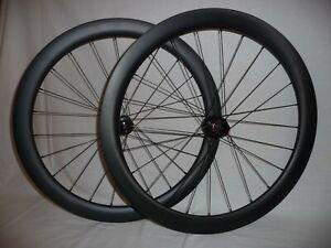 Light and extra wide 50mm deep (22mm int) disc brake gravel/road bike wheels