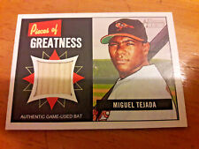2005 BOWMAN HERITAGE MIGUEL TEJADA BALTIMORE ORIOLES POG BAT CARD NM/MT 00062