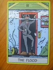 POSTCARD / ADVERTISING CARD...FLOOD INSURANCE..CREDIT UNION..TAROT STYLED CARD