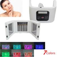 CE LED Photon Light Facial&Neck Mask Photodynamic PDT Skin Rejuvenation 7 Colors