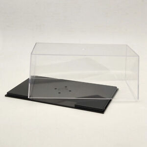 Acrylic Case Display Box Cover Transparent Dust Proof 1:24 1:32 Model Car 22cm
