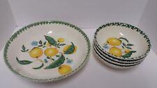 The Cellar Hand Painted Lemon Design 5 Piece Pasta Bowls Set