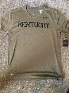 NWT Nike Dri-fit Kentucky Wildcats Tshirt — Rare, Army Green, Camo — Size Large