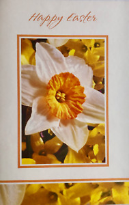 Happy Easter greetings card, suitable for male or female, flowers theme, new
