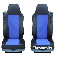 Paire / 2 BLEU-NOIR tissu Housses de siège auto sur mesure pour camion MAN