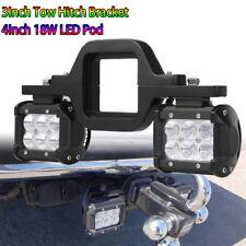 Chevy Silverado 1500/2500/3500 Tow Hitch Bracket+ Backup Reverse Dual LED Lamps