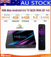 4GB+64GB New H96 MAX RK3318 Android 9.0 Quad Core 4K BT 4.0 HDMI LED TV Box Wifi