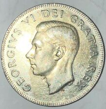 1949 ND ~ CANADA ~ 50 CENTS ~ GEORGE VI ~ XF40 Condition