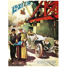 Lozier Motor Advertising Poster Deco Magnet, Man of Affairs Mini Gifts