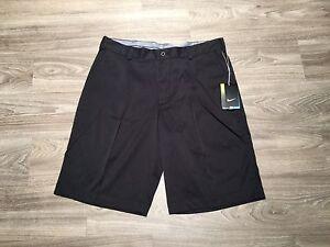 Nike Men Golf Tech Pleat Dri-FIT Tour Performance Shorts 509180-010 Black 32 $65
