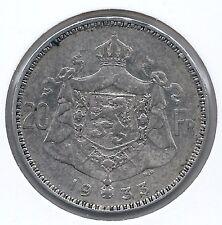 20 frank 1933 vlaams pos.A * Z.Fraai / Prachtig * ALBERT I * nr 8300