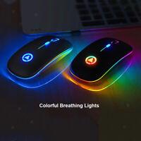 Souris optique USB de souris 3in1 7 couleurs LED avec récepteur 3 DPI réglable