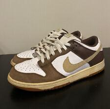 RARE 2009 Nike Dunk Low White / Brown / Tan Men's Sz 10
