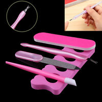 5pcs Nail Art Pedicure Dead Skin Fork Cuticle Remover Manicure Pusher File Tools